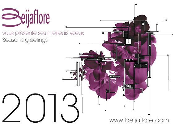 New Year card creation for Beijaflore consulting group