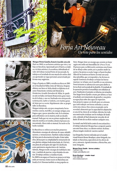 Selection and issue in fine art magazine OFFICIO Y ARTE - Spain