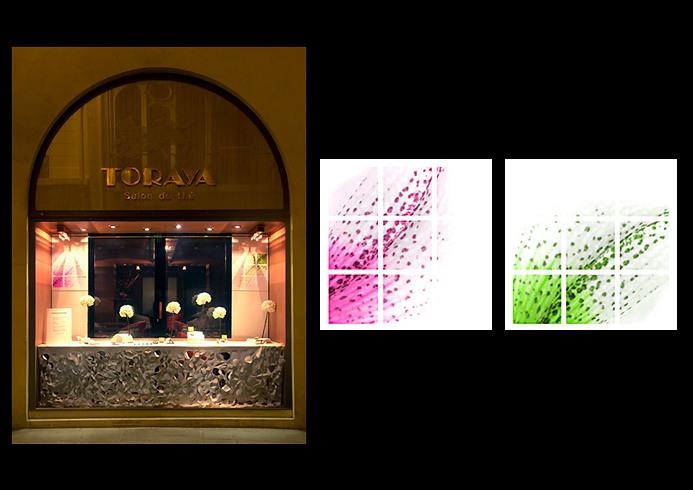 Window display creation for TORAYA Paris - Alverone agency