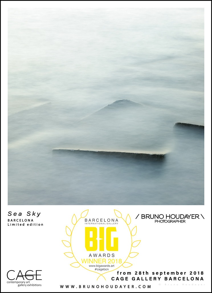 Photo Sea Sky finaliste BIG AWARD avec la Cage Gallery Barcelona