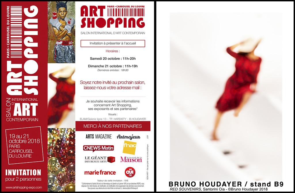 La photo Red Souvenir sur l'invitation du Salon Art Shopping Carrousel du Louvre 2018...
