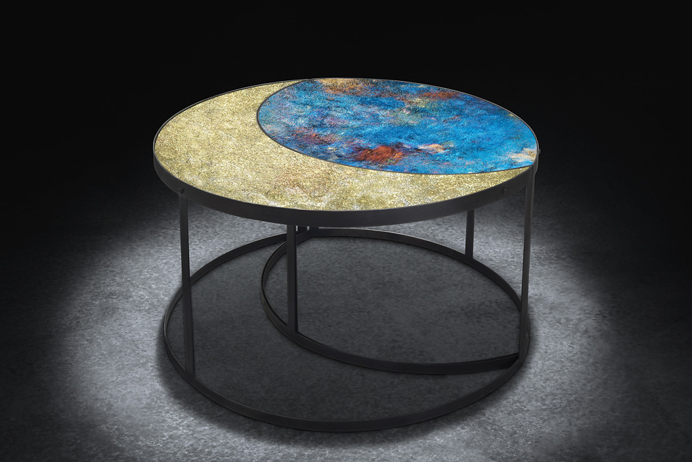 détail table Lune de Glass and Art by F.